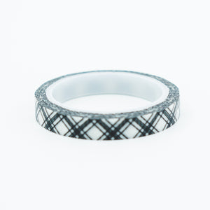 Washi Tape - Slim Black Crisscross
