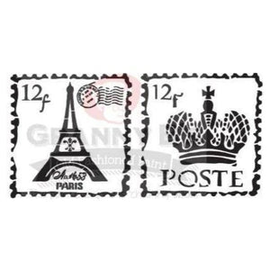 Granny B Stencil - French Post Stamps