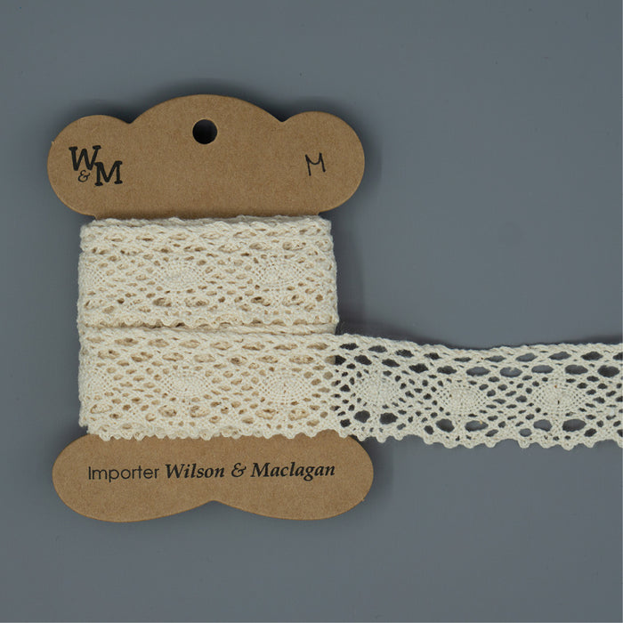 Torchon Lace - Beige Edging M