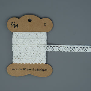 Torchon Lace - White Edging B