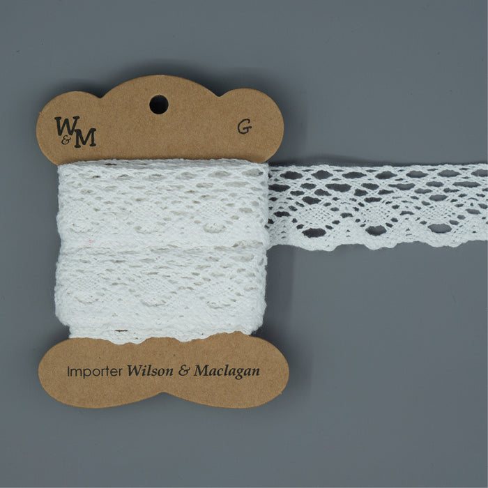 Torchon Lace - White Edging G