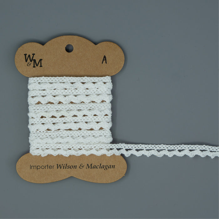 Torchon Lace - White Edging A