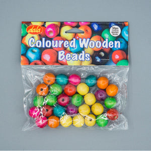 Wood Beads - Coloured