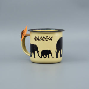 Mini Enamel Mug - Elephant