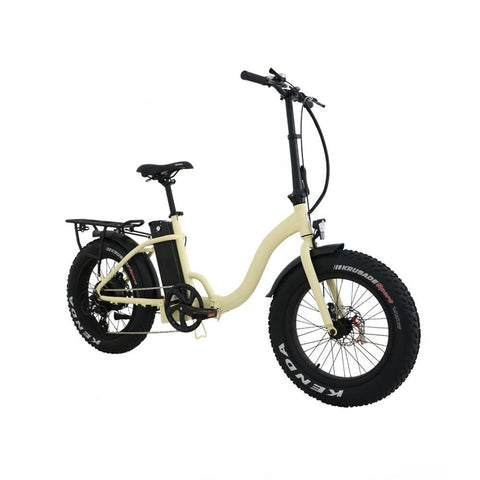 Fat tire low-step folding ebike