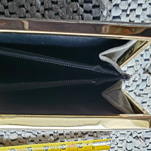 Load image into Gallery viewer, Kingspier Vintage - Vintage Cabrelli grey Moleskin fine velvet box clutch. Made in Canada