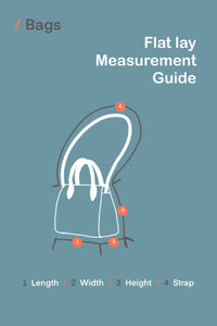 Kingspier Vintage - Measurement guide for bags