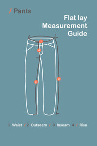 Measurement guide  for pants