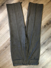 Load image into Gallery viewer, Kingspier Vintage - WM.H. Leishman (sold at Tip Top Tailors) two piece medium grey 100% pure virgin wool suit.The jacket is a single breasted, two button notch lapel with two flap pockets and two inside pockets. Pants are pleated with welt pockets. Made in Canada.