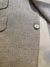 Load image into Gallery viewer, Chaps by Ralph Lauren light beige two piece suit sold at Martini Carl Boston. Jacket is a three button notch lapel with three flap pockets and a breast pocket. The pants are flat front with two slash pockets, a tiny flap pocket in the front and two back pockets.