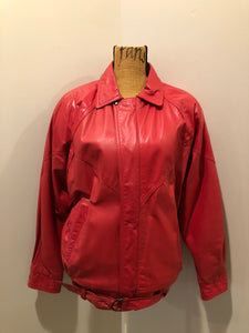 Vintage Zaggara Designs Red Leather Jacket