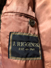 Load image into Gallery viewer, J.Riggings brown houndstooth 100% wool tweed jacket. This jacket is a two button, notch lapel with two patch pockets, a breast pocket and three inside pockets.