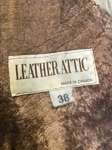 Vintage Leather Attic Light Brown Shearling Coat