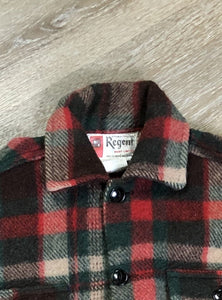 Vintage Regent Plaid Wool Lumberjack Shirt
