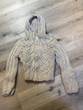 Load image into Gallery viewer, Nine West cardigan in taupe with hood, zipper and pockets. Size small (womens).