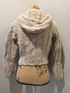 Nine West cardigan in taupe with hood, zipper and pockets. Size small (womens).