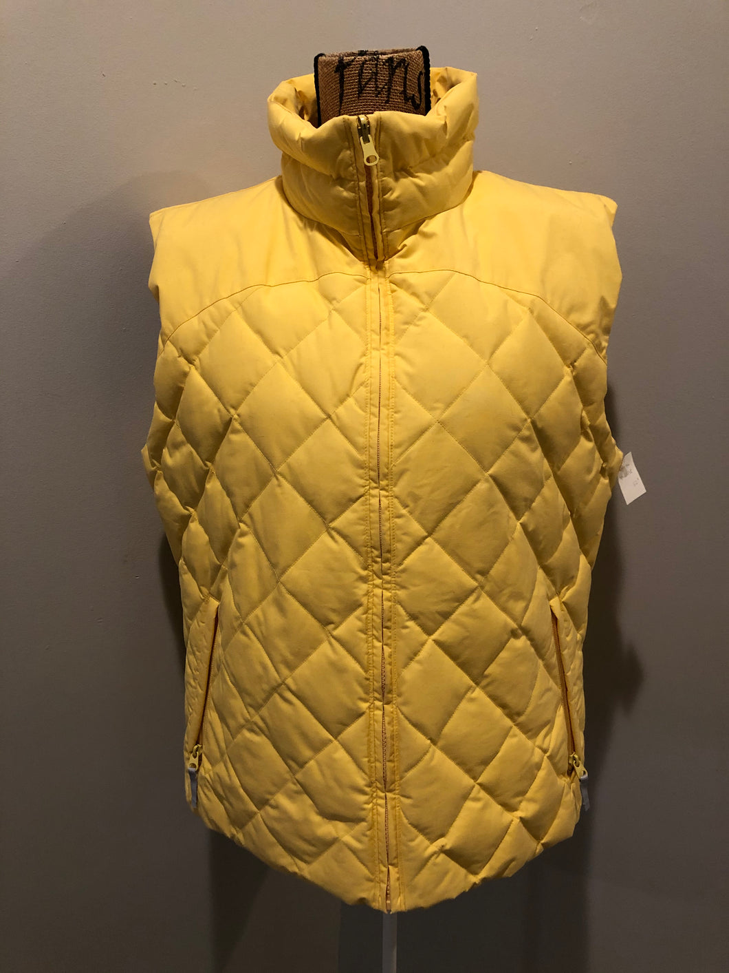 Kingspier Vintage - Scotch and Soda reversible orange and grey 1970's down filled puffer vest with snap closures and patch pockets. Made in Amsterdam.