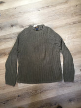 Load image into Gallery viewer, Kingspier Vintage - Woolrich ribbed knit wool sweater in army green. Size XL.