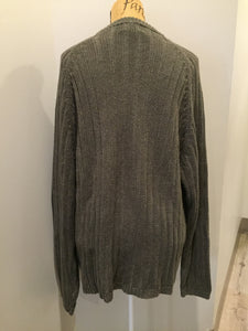 Kingspier Vintage - Woolrich ribbed knit wool sweater in army green. Size XL.