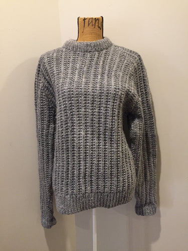 (SOLD) grey wool contemporary sweater.