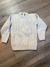 Load image into Gallery viewer, Kingspier Vintage - Ishka South American fisherman sweater in cream. Size medium.
