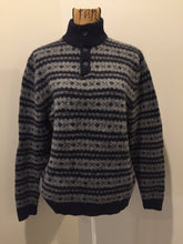 Load image into Gallery viewer, Eddie Bauer Navy and Grey Wool Sweater