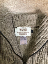 "Load image into Gallery viewer, Aran ribbed knit merino wool sweater. Made in Ireland. Size small. *Bonus* From the TV show ""Man in the High Castle"" stock."