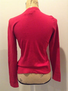 Coldwater Creek 75% silk blend cardigan in red. Size XS.