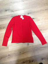 Load image into Gallery viewer, Coldwater Creek 75% silk blend cardigan in red. Size XS.
