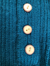 Load image into Gallery viewer, Kingspier Vintage - Great Northern Knitters green wool button up sweater. Made in Canada, Size M/L.
