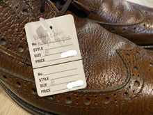 Load image into Gallery viewer, Wingtip Brogue Eaton Sanitized Derby Shoes 8M 41 (Canada)