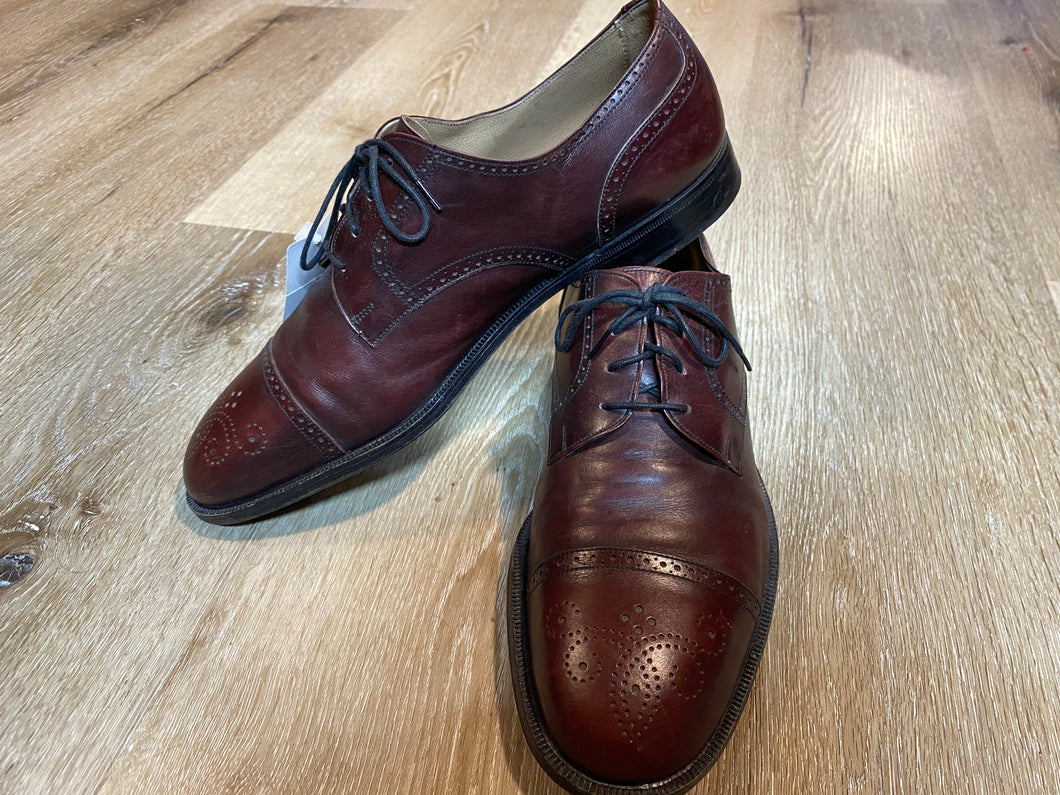 Cap Toe Brogue Red Shoe Derby Shoes 6M 38/39