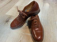 Load image into Gallery viewer, Kingspier Vintage - 1930s Brown Cap Toe Oxfords by The Scott McHale Shoe Canada's Finest - Sizes: 6M 7.5W 38-39EURO, Made in Canada, Styled for American Shoe Store Halifax, Good as New, Leather Soles