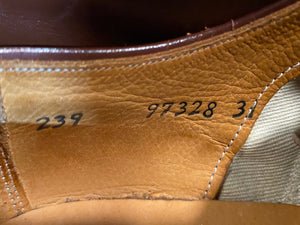 Kingspier Vintage - 1930s Brown Cap Toe Oxfords by The Scott McHale Shoe Canada's Finest - Sizes: 6M 7.5W 38-39EURO, Made in Canada, Styled for American Shoe Store Halifax, Good as New, Leather Soles