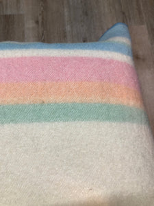 Pastel Stripe Wool Blanket