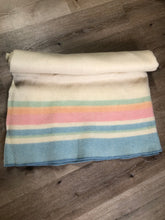 Load image into Gallery viewer, Pastel Stripe Wool Blanket