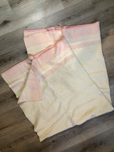 Load image into Gallery viewer, Vintage Eatonia Beige and Pink Wool Blanket