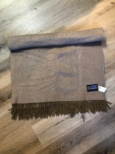 Edinburgh Old Town Weaving Co. Taupe Wool Blanket