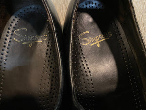Kingspier Vintage - Black Penny Loafers by Simpsons - Sizes: 7.5M 9W 40-41EURO, Made in Czechoslovakia, Leather Soles and Rubber Heels