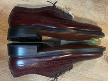 Load image into Gallery viewer, Kingspier Vintage - Burgundy Full Brogue Wingtip Derbies by Dexte - Sizes: 7M 8.5W 39-40EURO, Made in USA, Dexter USA Leather Soles and Rubber Heels