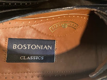 Load image into Gallery viewer, Kingspier Vintage - Black Quarter Brogue Cap Toe Oxfords by Bostonian Classics - Sizes: 8M 10W 41EURO, Made in China, Leather Upper and Lining, Bostonian First Flex Leather Soles and Rubber Heels