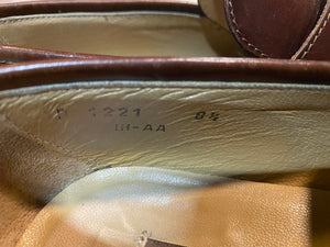 Kingspier Vintage - Brown Leather Penny Loafers by Pollini - Sizes: 8.5M 10.5W 41-42 EURO, Made in Italy, Vero Cuoio Leather Soles, Partial Rubber Heels