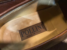 Load image into Gallery viewer, Kingspier Vintage - Brown Leather Penny Loafers by Pollini - Sizes: 8.5M 10.5W 41-42 EURO, Made in Italy, Vero Cuoio Leather Soles, Partial Rubber Heels