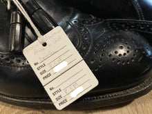 Load image into Gallery viewer, Kingspier Vintage - Black Full Brogue Wingtip Tassel Loafers by Dexter USA, Sizes: 8.5M 10.5W 41-42EURO, Made in USA, Dexter Leather Soles and Rubber Heels
