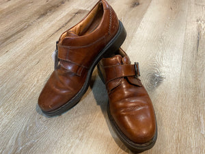 Johnston & Murphy Passport Monk Strap Shoes 8.5M 41/42 (Italy)