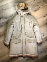 Load image into Gallery viewer, Vintage Rice Sportswear Beige Down-Filled Parka