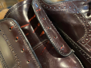 Wingtip Brogue Dack's Derby Shoes 9M 42 (Mexico)