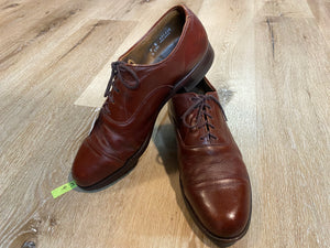 Kingspier Vintage - Brick Red Plain Cap Toe Oxfords by Walkover Vel-Flex - Sizes: 9M 11W 42EURO, Made in USA, Fibre Insoles, Leather Soles, Rubber Heels