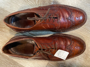 "Wingtip Brogue ""Johnson"" Derby Shoes 9M 42"