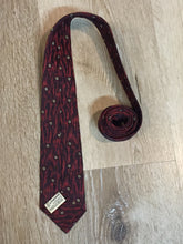 Load image into Gallery viewer, Vintage Watson Bros. European Imports Red, Black and Cream Tie